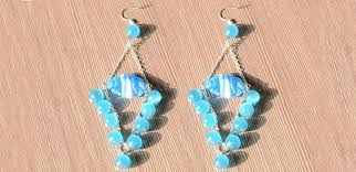 easy tutorial on making big chandelier earrings