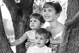 todd fisher children. Wonderful Fisher Woman With Two Children Poses In Tree For Todd Fisher Children