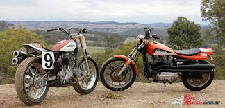 custom harley xr 1000 xr 750 flat tracker bike review