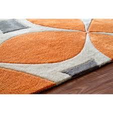 curtain mesmerizing orange and grey rug