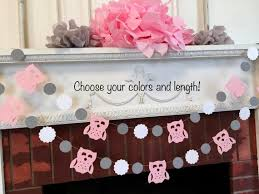owl baby shower decorations pink and gray baby shower girls woodland owl birthday banner gender neutral baby shower your color choices