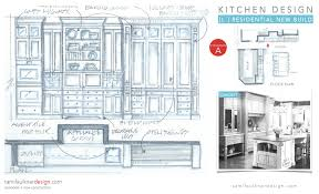 Bifold Kitchen Cabinet Doors Elevation Sketch For A New Kitchen Open Shelving Tile Accents