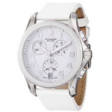 white sport men s watches shop the best deals for 2017 swiss army men s 241500 chrono classic white dial white leather strap watch