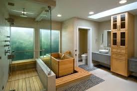 teak shower floor bathroom contemporary with soaking tub sinks wood trim insert uk full size