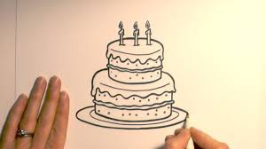 How To Draw A Birthday Cake Youtube