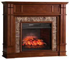 aragon faux stone infrared electric media fireplace