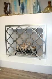 silver fireplace screen s tone viagrmgprix with regard to inspirations 9