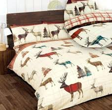 deer duvet cover brushed cotton flannelette quilt duvet cover bedding blue deer print duvet set