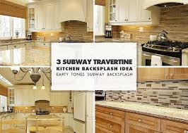 brown travertine backsplash tile subway plank