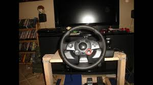 diy gran turismo logitech steering wheel stand pit racing rig you