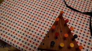 Wooden Triangle Peg Game Triangular golf tee Cracker Barrel peg game solution YouTube 86