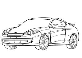 Get Printable Hyundai Tiburon Coupe Coloring