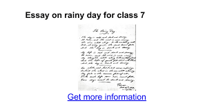 essay on rainy day for class google docs
