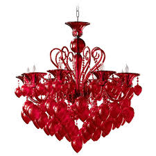 red chandelier image otdnypp