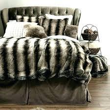 faux comforter sets western bed