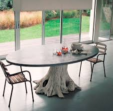 tree trunk tables tree trunk table rh trendhunter com tree dining table base tree dining tables round in glass
