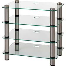 Glass Stands For Display Modern Quality AV Display Corner Glass Shelves Storage 13