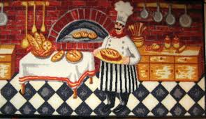 fat chef kitchen theme themed rugs home towels with about vintage bar che good fat chefs kitchen rug chef decor