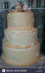 Paris France Detail Artificial Wedding Cake On Display In French