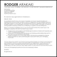 Cover Letter Sample Hoteljob General Hotel Job Cover Letter Example