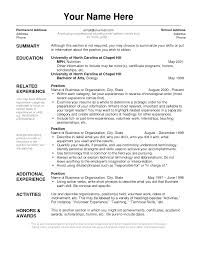 Layout Of A Resume Resume Templates