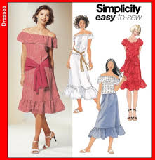 Peasant Dress Pattern Amazing Simplicity 48 Peasant Dresses And Separates
