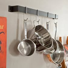 Kitchen Pot Rack Wall Mounted Pot Rack Model Throughout New Kitchen Modern Kitchen