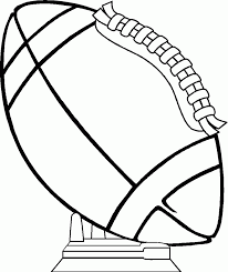 sports lovely football free coloring page kids pages