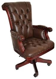brown leather office chair. Regal Brown Leather Office Chair With Wood Trim Brown Leather Office Chair W