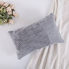 12x20 pillow cover. Exellent Cover HOME BRILLIANT Plush Mongolian Faux FurDeluxe Suede Fluffy Sheepskin  Oblong Regtangular Accent Throw Pillow Case Cushion Cover For Bed 1 Pc 12 In 12x20 2