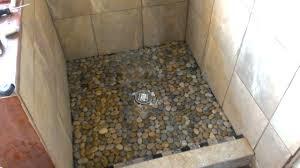 pebble tile shower floor diy john robinson house decor