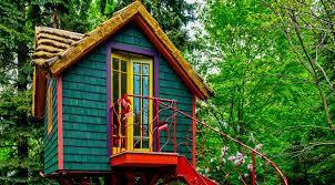 tree house ideas. Colorful Treehouse Tree House Ideas