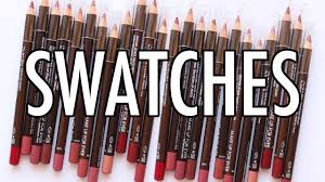 make up for ever high precision lip pencil swatches