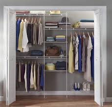 closetmaid 1608 closet organizer kit with shoe shelf 5 foot to 8 foot white