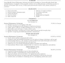 Maintenance Technician Resume Sample Maintenance Mechanic Resume Samples Resume Creator Simple Source