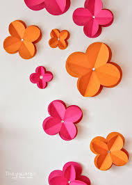 use a cricut explore to make your own 3d paper wall decor