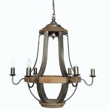 vineyard metal and wood 6 light chandelier with seeded glass shades the transitional lighting collection by