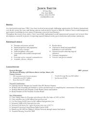 targeted resume sample general manager resume template premium resume samples example