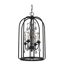 fifth and main lighting aspen 4 light aged bronze cage pendant with cage pendant lighting