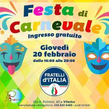 Fratelli d'Italia, giovedì grasso torna la festa di Carnevale