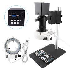 8MP Điện Tử Kỹ Thuật Số Video Kính Hiển Vi Với Camera VGA 130X Ống Kính &  58 Chiếc Đèn LED Tròn Đèn Cumputer PBC Điện Thoại sửa Chữa 2021|Kính Hiển  Vi