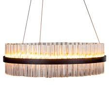 black ring led chandelier