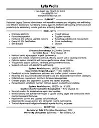 Sharepoint Administration Resume Examples Templates System