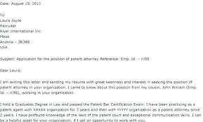 Patent Lawyer Cover Letter Lawyer Cover Letters Junior Legal