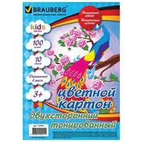 Купить Цветной картон <b>BRAUBERG</b>, <b>A4</b>, <b>50 л</b>. по низкой цене с ...