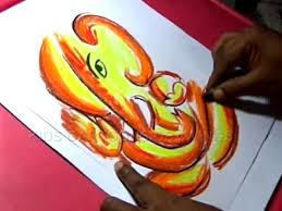 How To Make Handmade Vinayaka Chaturthi Greeting Drawing Step By Step