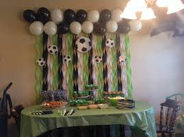 interior design simple soccer themed birthday party decorations