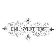 three hands metal sweet home wall decor 70996 the home depot with regard to newest