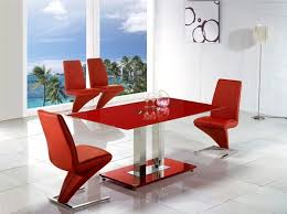 jet glass dining table and 4 chairs set