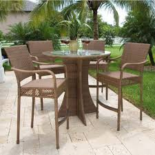 engaging patio furniture tall table and chairs your residence concept
